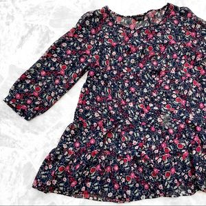 TOPSHOP Floral Sheer Frock Tunic